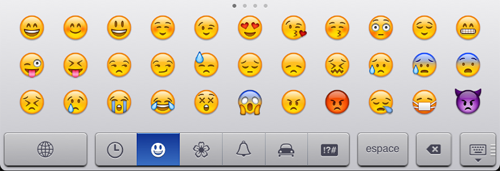 Icones Emoji sur iPhone et iPad