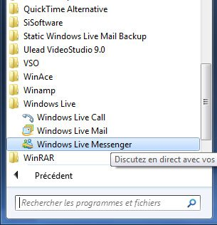 Comment réduire Windows Live Messenger dans la zone de notification de Windows 7 ?