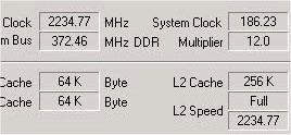 Thunderbird @ 2234 MHz  !