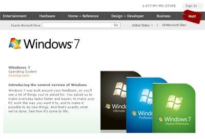 Les boites de Windows 7 se dévoilent …