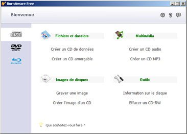 Burn Aware 2.2.0 : gravez gratuitement CD, DVD et Blu-ray