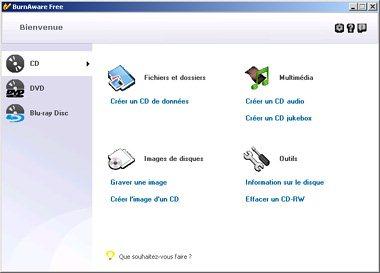 BurnAware : logiciel de gravure gratuit