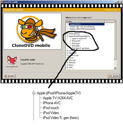 CloneDVD Mobile supporte désormais l'iPhone (maj)