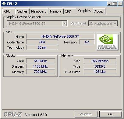 CPU-Z 1.52 et support des puces graphiques