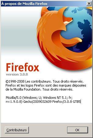 Le navigateur FireFox passe en version 3.08