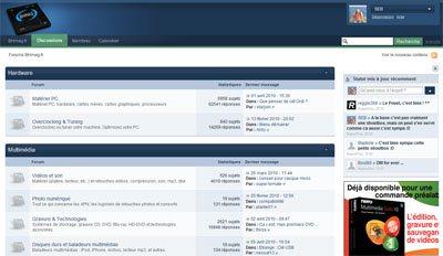 Notre forum est à nouveau disponible !