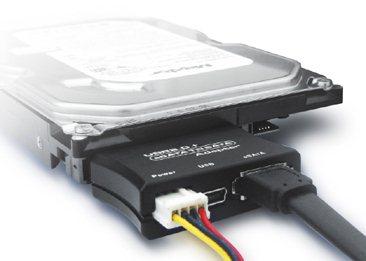 Connectez votre HDD SATA sur USB 2.0 ou eSATA