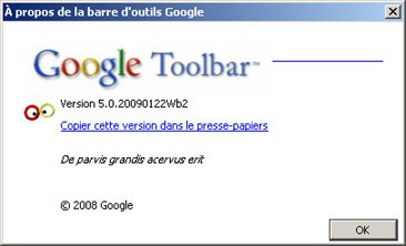 La beta 2 de Google Toolbar 5 est disponible