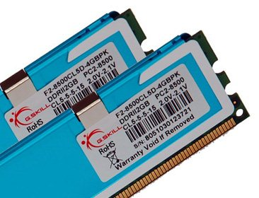 Un kit mémoire de 4Go PC2-8500 chez G.Skill