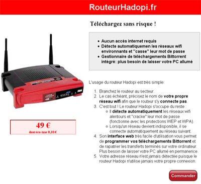 Un routeur spécial pour contrer HADOPI ?