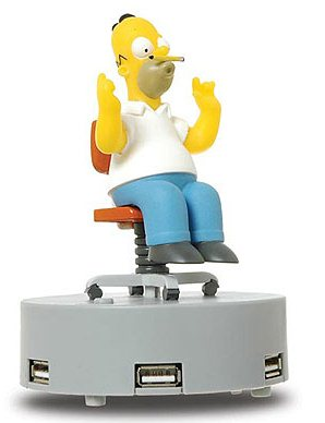 Insolite : un hub usb Homer Simpsons