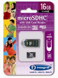 Integral Europe lance une carte microSDHC de 16Go