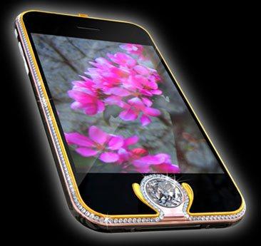 Idée cadeau : un iPhone 3G serti d'or et de diamants…