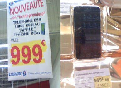 L'iPhone disponible en France chez Leclerc [Maj3]
