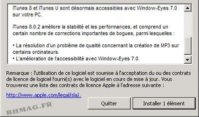iTunes 8.2 est également de sortie …