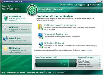 Kaspersky Antivirus et Internet Security 2010 disponibles