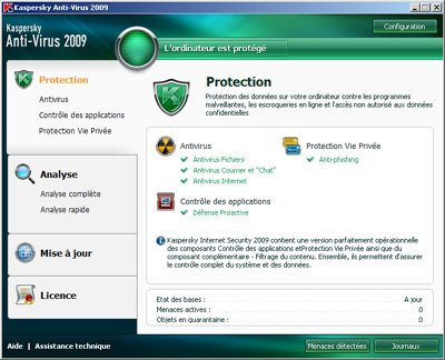 Kaspersky Antivirus 2009 et KIS 2009 version 8.0.0.506