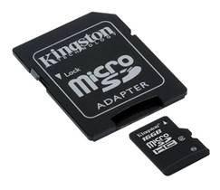 Une microSDHC de 16Go aussi chez Kingston