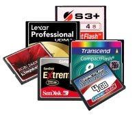 LesNumeriques compare 6 Compact Flash