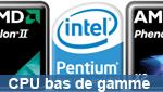 Matbe teste 3 processeurs d'entrée de gamme