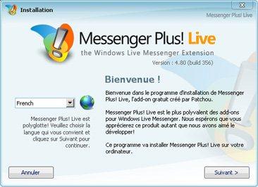 Messenger Plus! compatible WLM 2009 et Seven