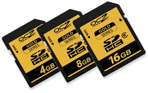 Des cartes mémoires SDHC Gold chez OCZ