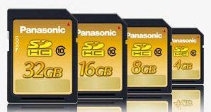 Des cartes SDHC de class 10 chez Panasonic