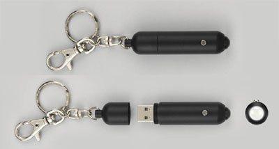Des clés usb lampe-torche et pointeur laser