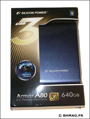 [BHMAG] Test du disque dur USB 3.0 Armor A80 de Silicon Power