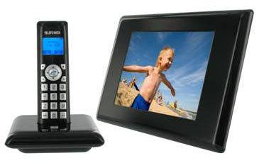 Téléphone fixe DECT et cadre photo numérique
