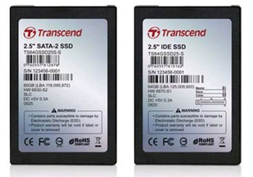 Des SSD de 8 à 64Go chez Transcend