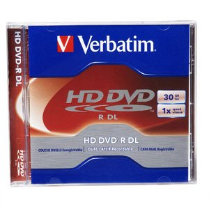 Verbatim : HD-DVD simple et double couches