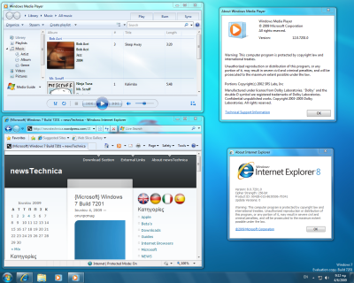 Fuite d'une nouvelle build (7201) de Windows 7