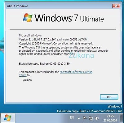 La build 7137 de Windows 7 en vadrouille sur le net