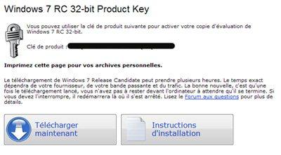 Ca y est la RC française de Windows 7 est disponible en téléchargement