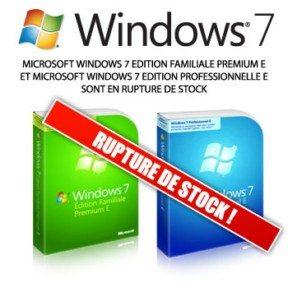 Précommandes de Windows 7 E : un bilan mitigé