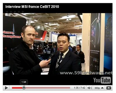 CEBIT : interviews de MSI France et Thermaltake