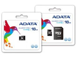 Des cartes microSDHC de class 10 chez A-Data