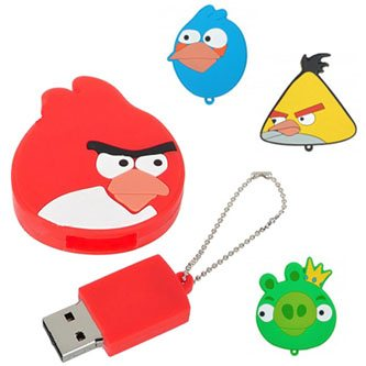 Insolite : des clés usb Angry Birds !
