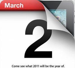 Apple confirme la date du 2 mars pour l'iPad 2