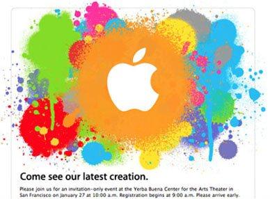 Apple confirme sa conférence du 27 janvier