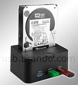 Un dock HDD et hub USB 3.0 chez Brando