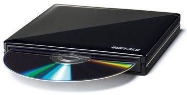 Un graveur DVD slot-in en vue chez Buffalo