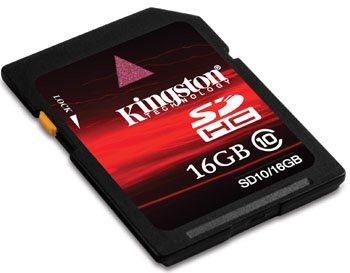 Kingston lance des cartes SDHC de class 10