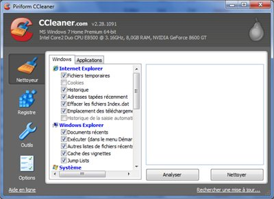 CCleaner sort en version 3.02.1343