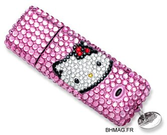 Une clé usb Hello Kitty made by Swarovski