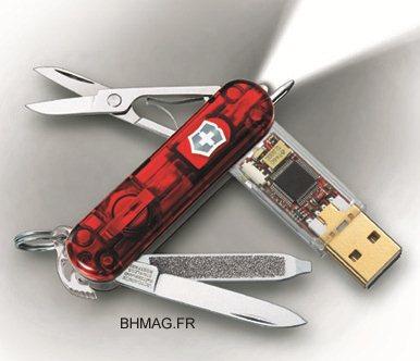 victorinox un couteau suisse de geek avec cl usb de 32go s curis e bhmag. Black Bedroom Furniture Sets. Home Design Ideas