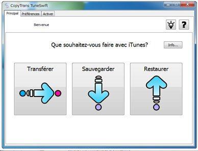 CopyTrans TuneSwift : transférer et sauvegarder facilement iTunes