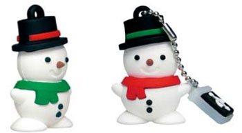 Des clés usb en forme de bonhomme de neige
