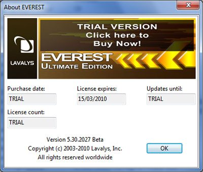 Une version Beta de Everest 5.30.2027 est sortie